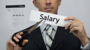 pay salary cut